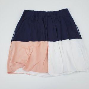 HD in Paris//Color Block Mini Skirt sz L